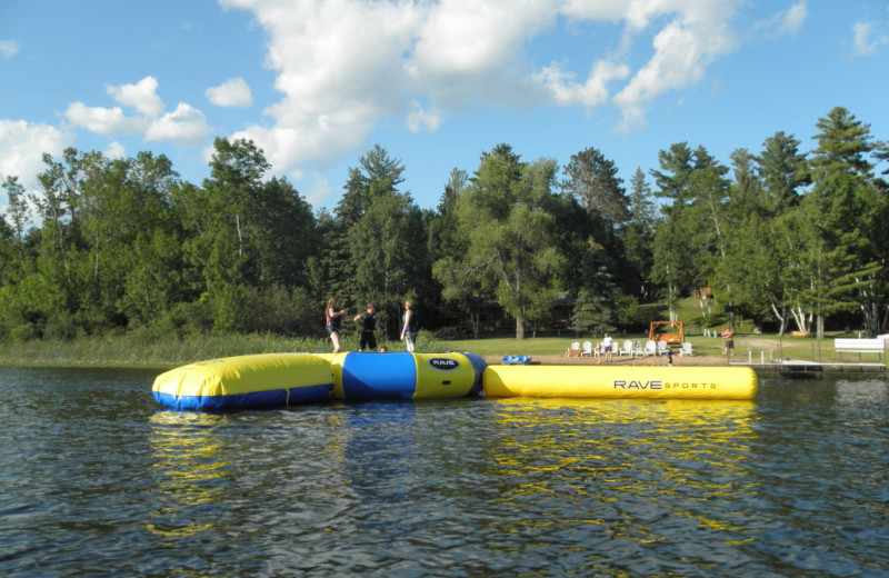 Water trampoline at Kokomo Resort.