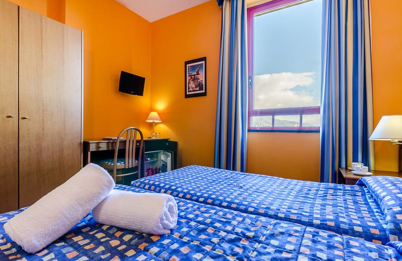 Guest room at Columbus Sea Hotel.