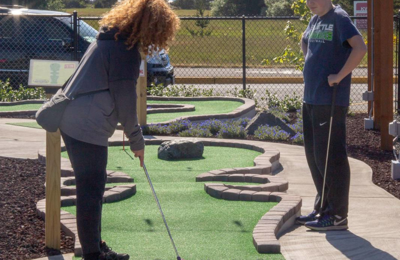 Mini golf at Bloomer Estates Vacation Rentals.