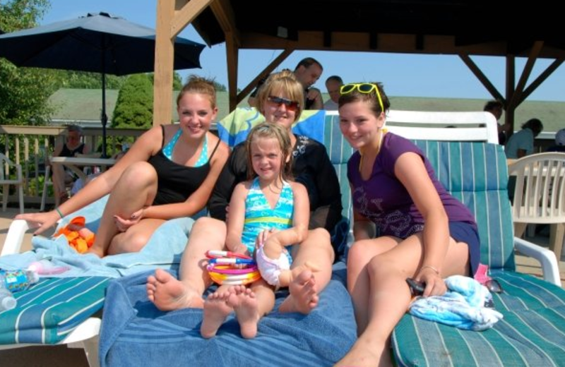 Family at Pollace's Family Vacation Resort.