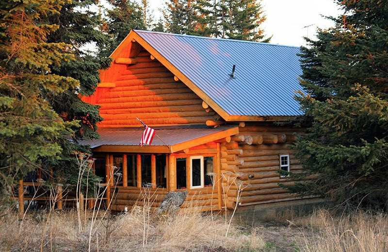 Cabin exterior view at Bear Paw Adventure.