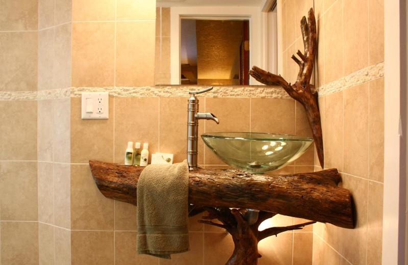 Guest bathroom at Beso Del Sol Resort.