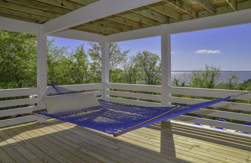 Rental hammock at Joe Lamb Jr. & Associates Vacation Rentals.