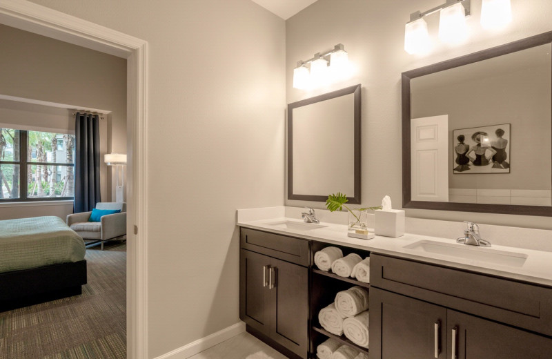 Guest bathroom at The Grove Resort & Spa.