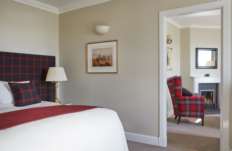 Guest room at Kinloch Lodge.