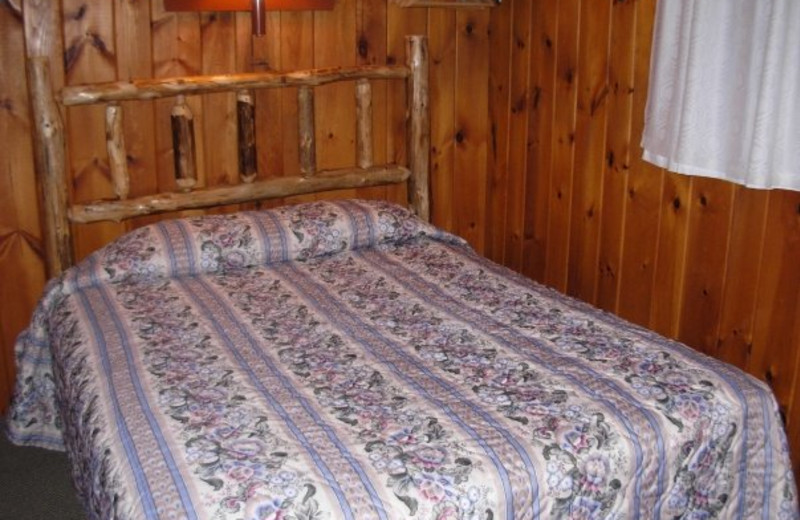 Guest bedroom at Diamond Cove Cottages.