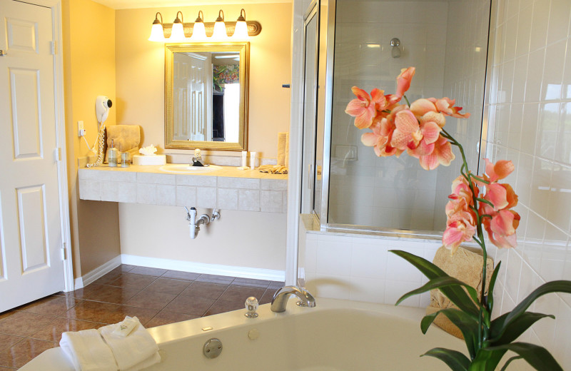 Guest bathroom at Summer Bay Resorts.