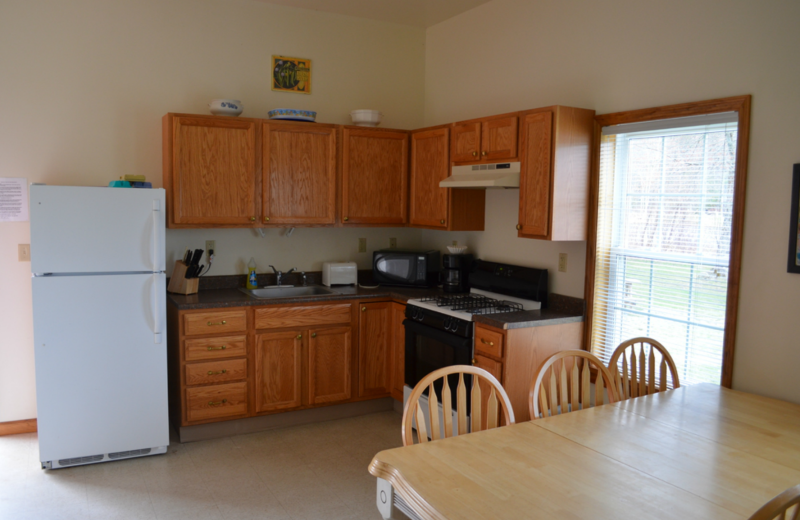 Apartment kitchen at Twin Pines Resort.