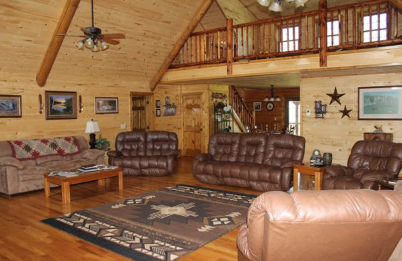 Lodge living room at Saddleback Lodge.