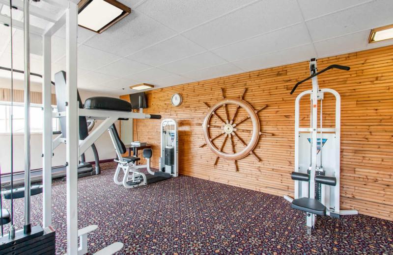 Fitness room at Surfrider Resort.