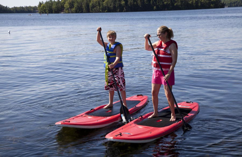 Paddle boarding at Severn Lodge.