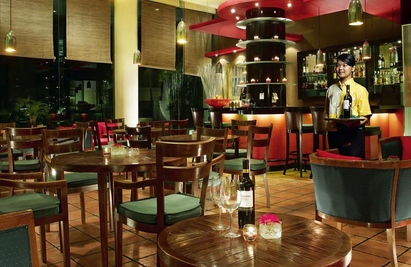 Dining at Ibis Tamarin Hotel.
