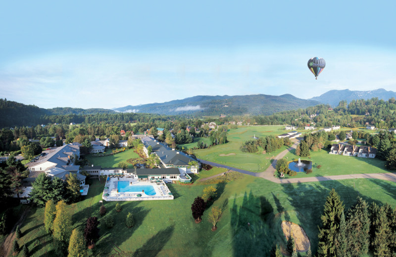 Aerial view of Stoweflake Mountain Resort & Spa.