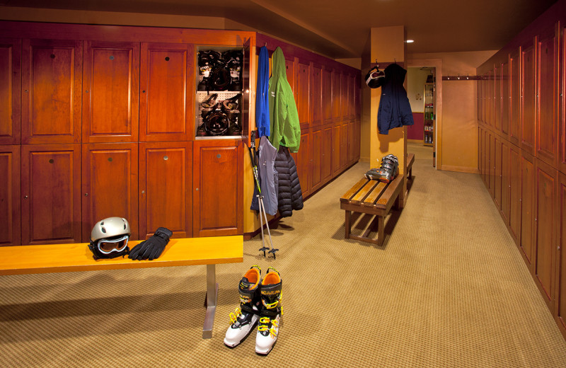 Locker room at Edelweiss Lodge and Spa.