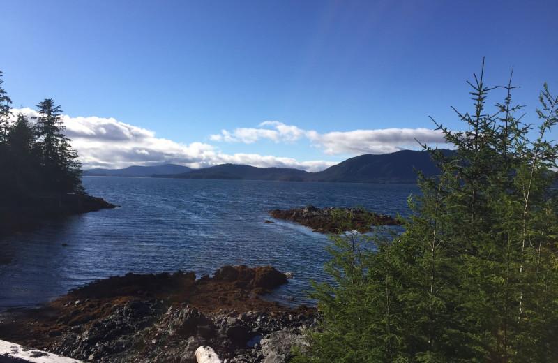 Lake view at Alaska's Big Salmon Lodge.