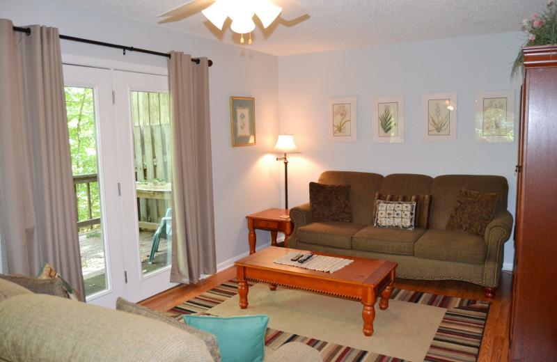Rental living room at Hot Springs Village Rentals.