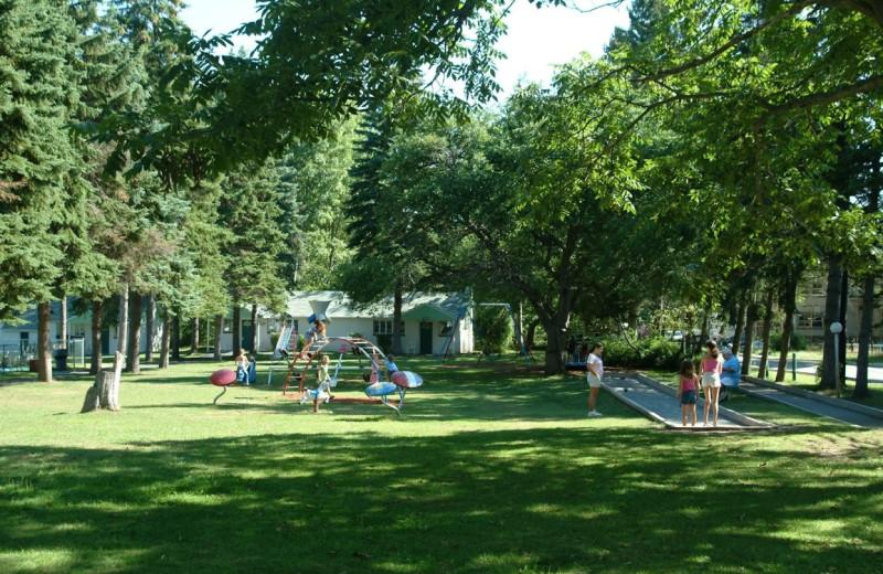 Kid's playground at Chestnut Grove Resort.
