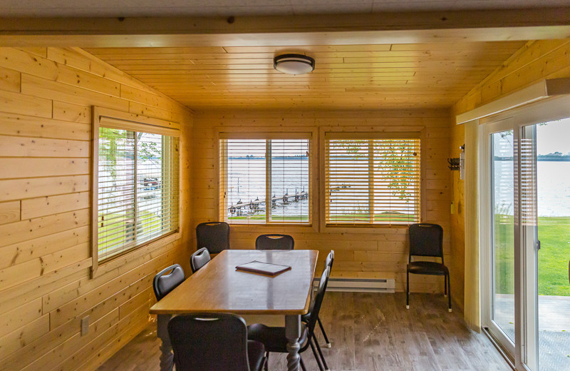 Cabin dining room at Ten Mile Lake Resort.