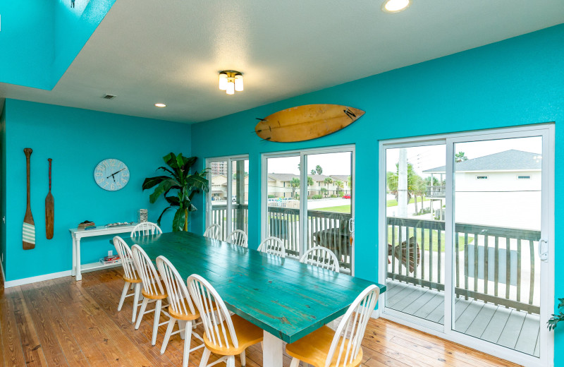 Rental dining room at Silver Sands Realty.