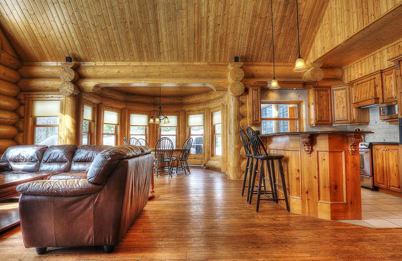 Chalet interior at Fiddler Lake Resort.