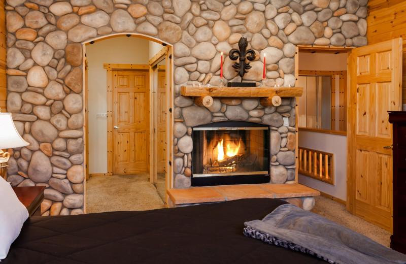 Rental bedroom at Big Bear Cool Cabins.