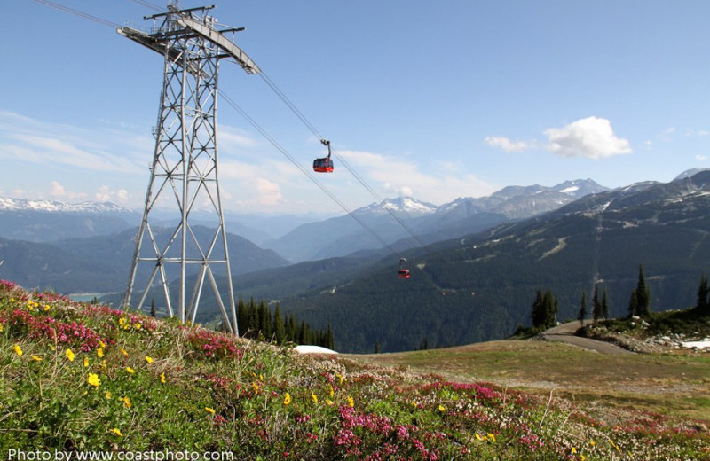 Ski lift at Whistler Blackcomb Mountains.