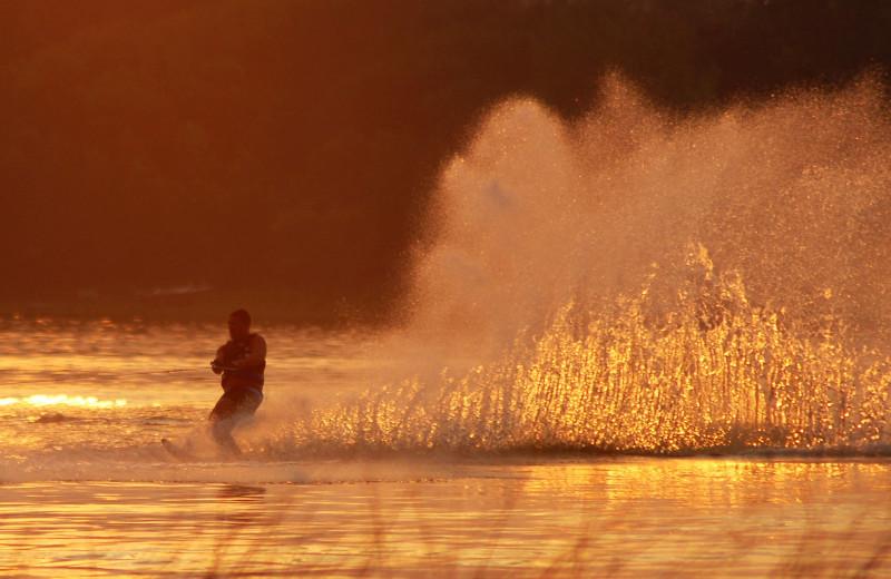 Water skiing at Bear Paw Resort.