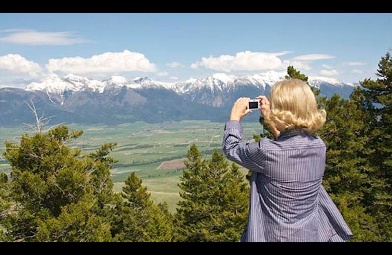 Scenic views around Ninepipes Lodge.