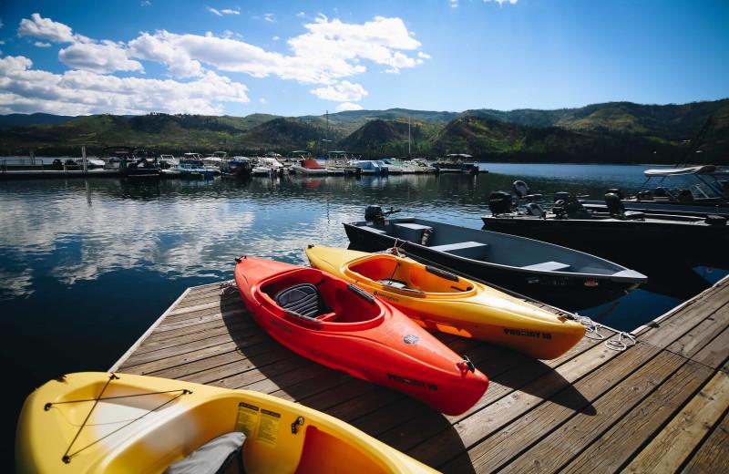 Kayaks to take out.