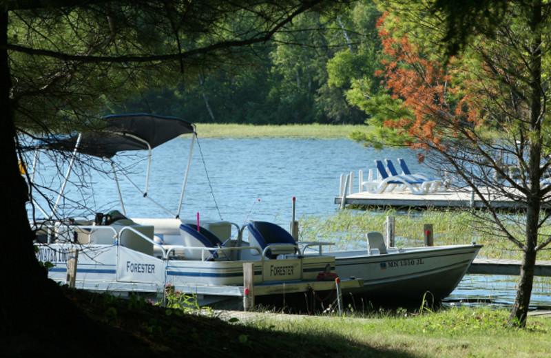 Lake view at Broadwater Lodge.