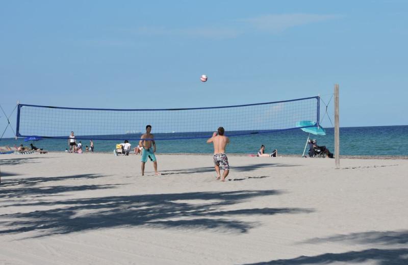 Beach at ValGal Vacation Rentals.