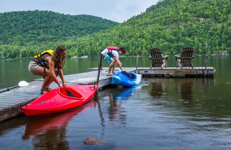 Kayaking at Garnet Hill Lodge.