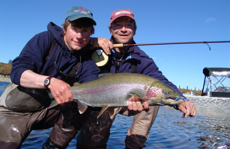 Fishing at Alaska Trophy Adventures Lodge.