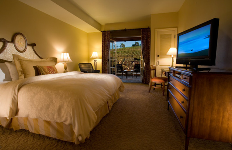 Guest room at The Meritage Resort and Spa.