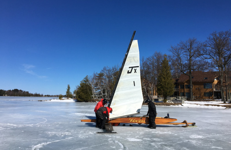 Winter sailing at White Birch Lodge.