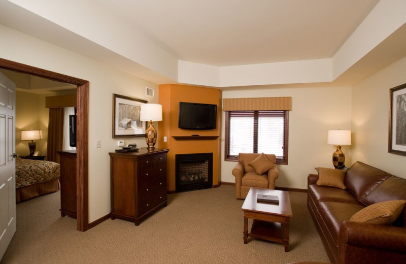 Guest room at Holiday Valley Resort.
