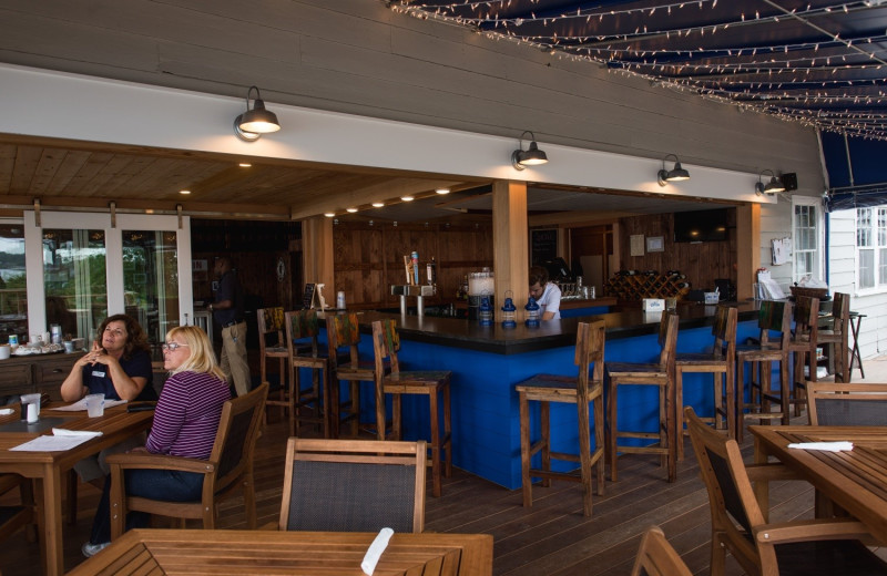 Bar at Linekin Bay Resort.