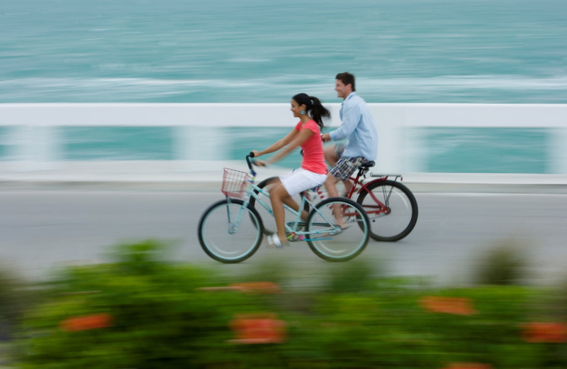 Bike riding at South Seas Island Resort.