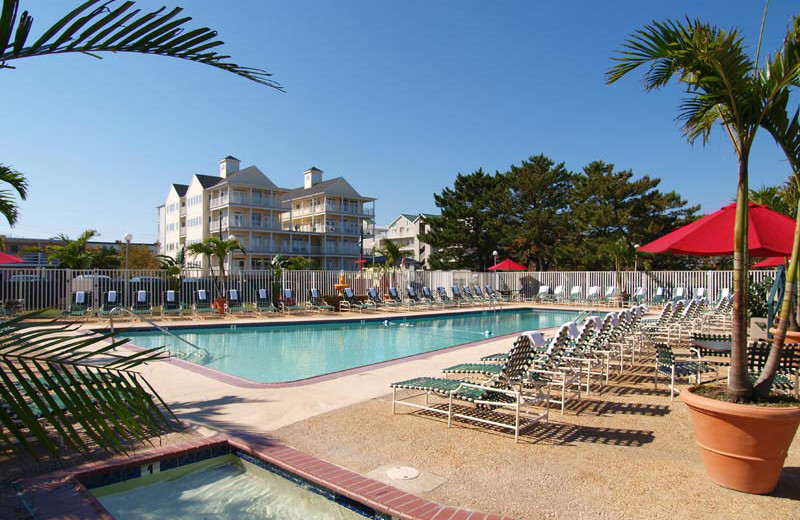 Outdoor pool at Quality Inn Oceanfront Ocean City.