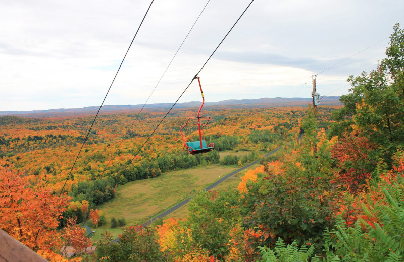 Ski lift at Big Powderhorn Lodging.