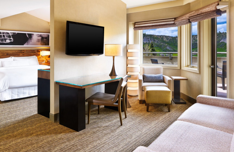 Guest room at The Westin Snowmass Resort.