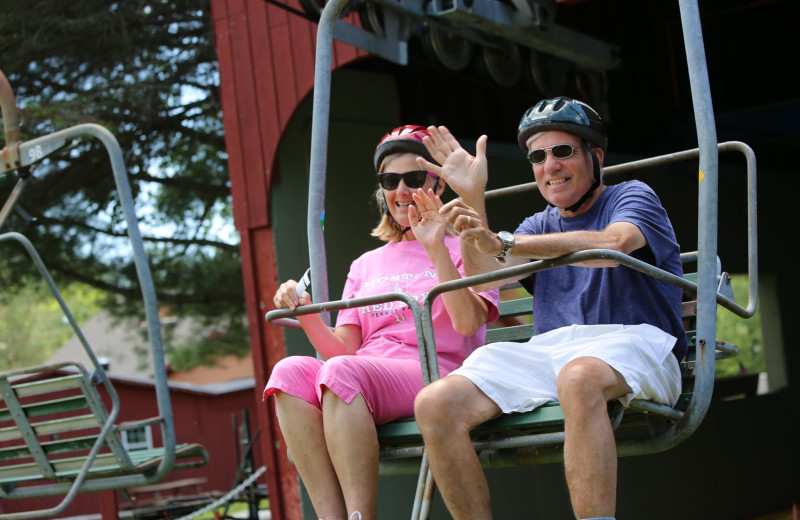 Chair lift at Waterville Valley Resort Association.
