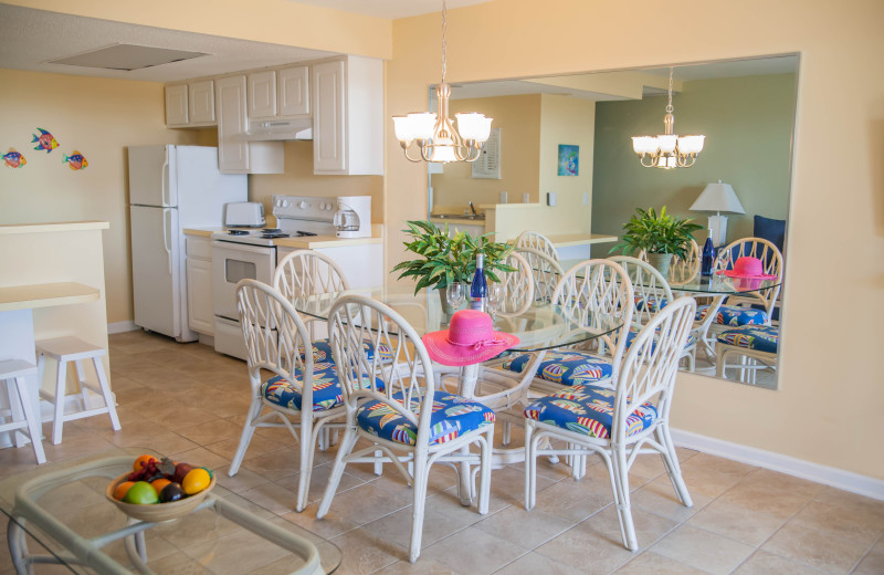 Guest dining room at The Winds Resort Beach Club.