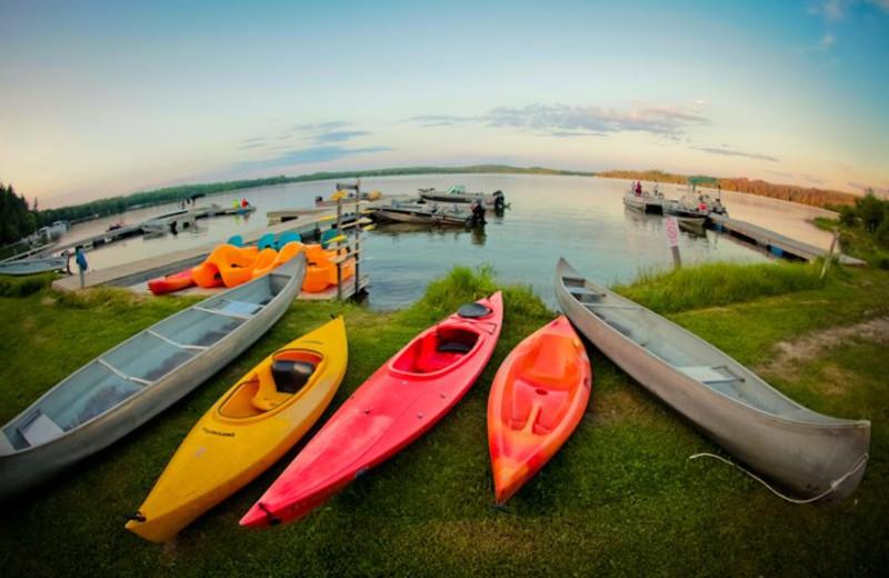 kayak on shore at kayak.