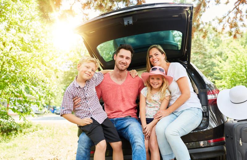 Family at Baumann's Brookside Summer Resort.