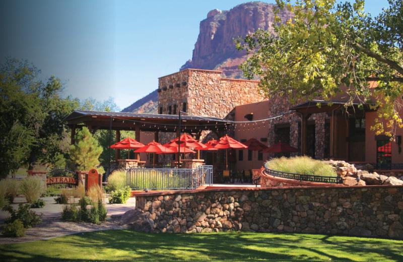 Resort With Patio Umbrellas at Gateway Canyons Resort