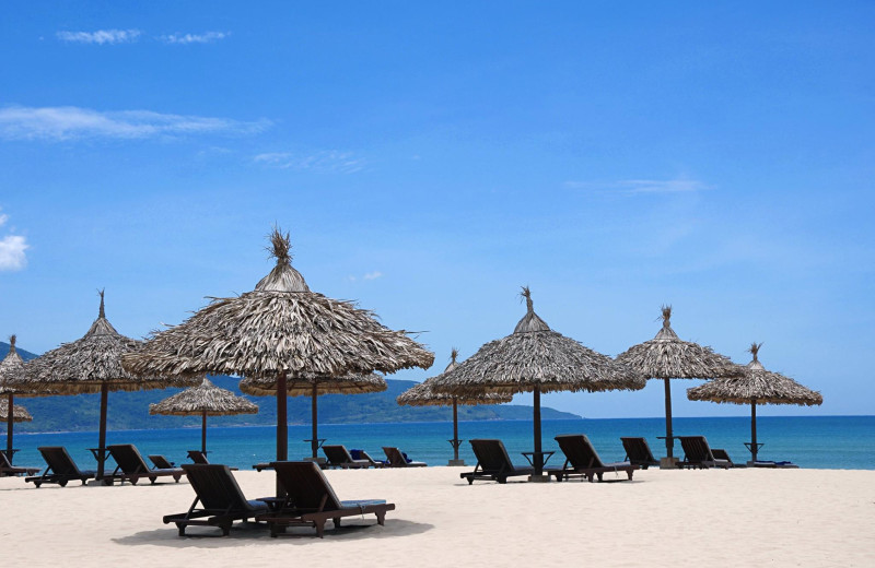 The beach at Furama Resort Danang.