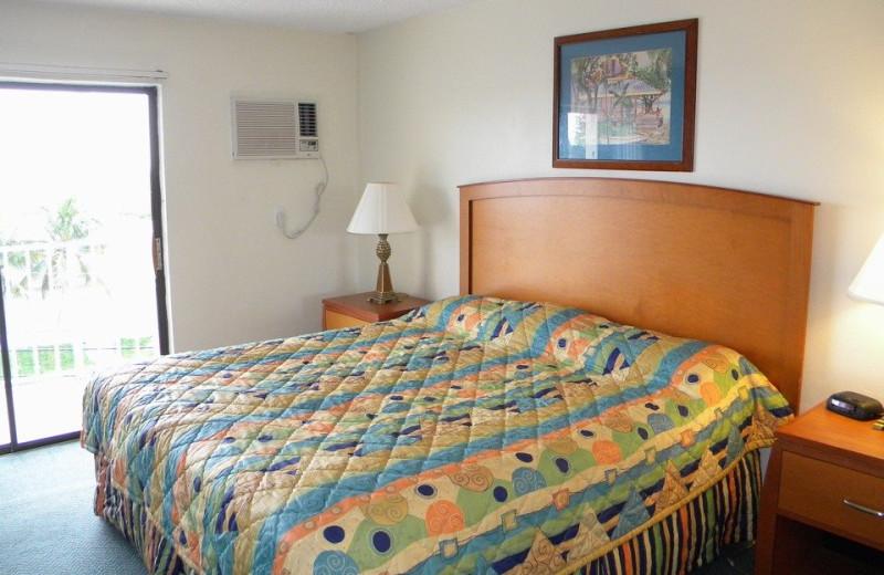 Guest room at Sombrero Resort & Marina.
