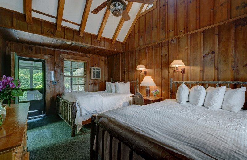 Guest bedroom at High Hampton Resort.