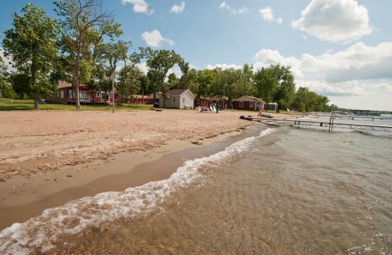 Beach at Otter Tail Beach Resort.